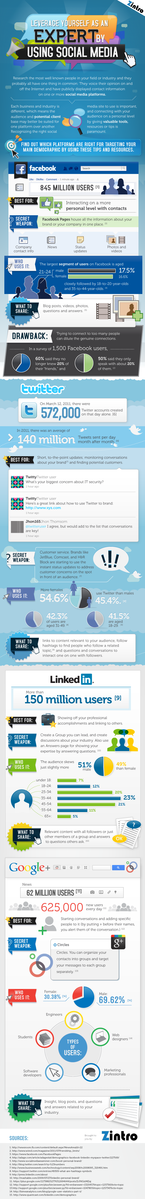 Leveraging Social Media to Showcase Your Expertise [INFOGRAPHIC]